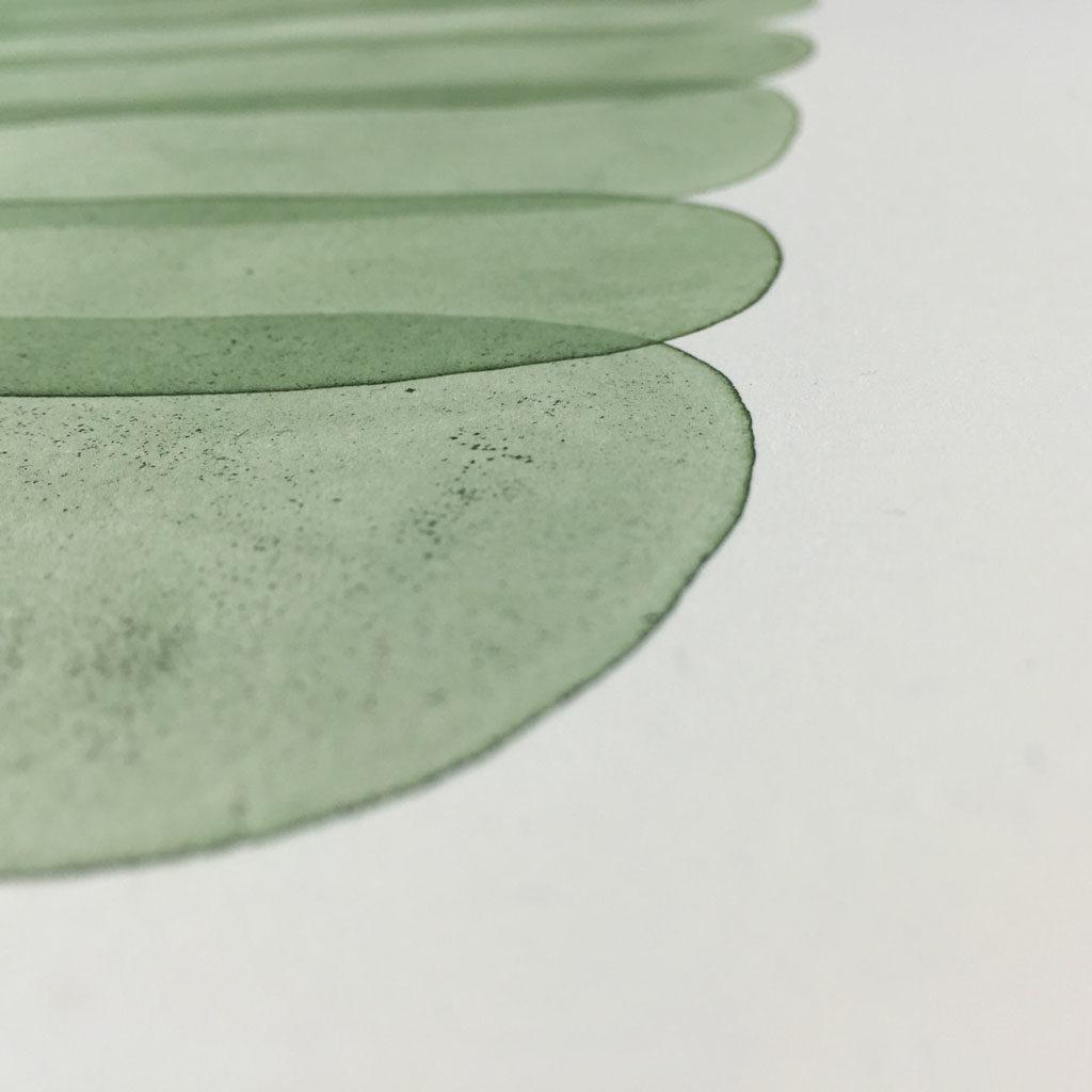 Monuments (Green Range), 2016 (detail) - Artwork by Brian Wetjen