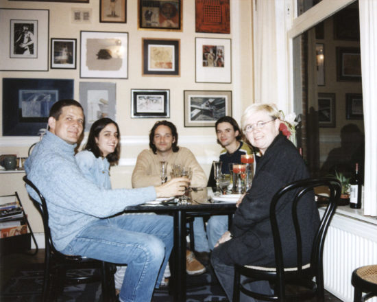 Dinner at Veerle Rooms' home in Antwerp, January 1998