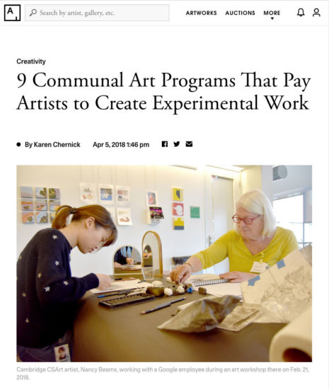 Image of Artsy Article about CSArt Programs